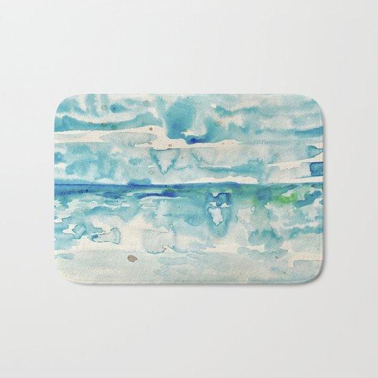 Miami Beach Watercolor #6 Bath Mat