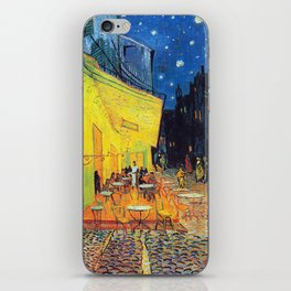 Vincent Van Gogh - Café Terrace at Night (new color editing) iPhone Skin
