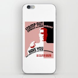 Stamp Out Syphilis And Gonorrhea -- WPA iPhone Skin