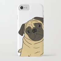 pug iPhone & iPod Cases featuring PUG by Elena O'Neill