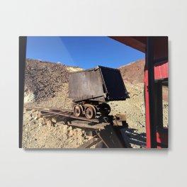 Mining Rail Car at Calico California's Ghost Town Metal Print