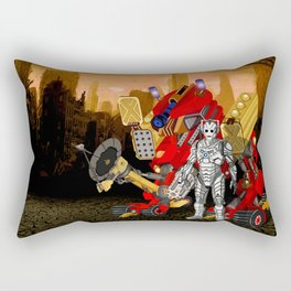 Upgraded Dalek with Cyberman Rectangular Pillow