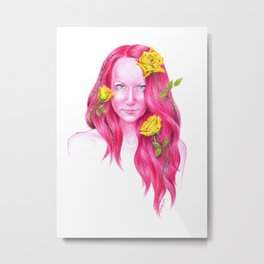Roses | Endometriosis awareness Metal Print