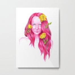 Roses   Endometriosis awareness Metal Print
