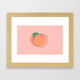 PEACH ULTRAMARINE Framed Art Print