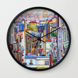 Montmartre View Wall Clock