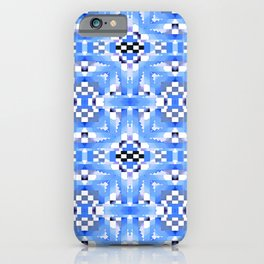 Indian Blanket Watercolor  Blue iPhone Case