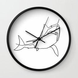 Great White Shark (white) Wall Clock