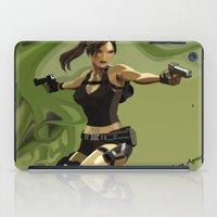 lara croft iPad Cases featuring Lara Croft by Fran Agostinelli
