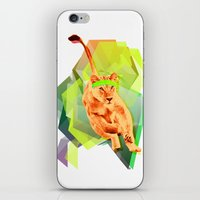 fitness iPhone & iPod Skins featuring Lioness fitness by veronica ∨∧