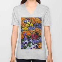 Pancy Flower 2 Unisex V-Neck