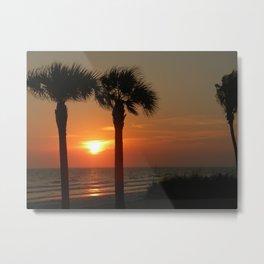 Sunset Fort Myers Beach Florida Metal Print