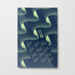 Aurora Calendar 2018 Metal Print