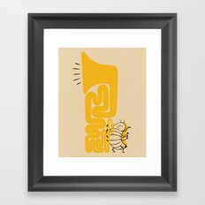 Tuba Bug Framed Art Print