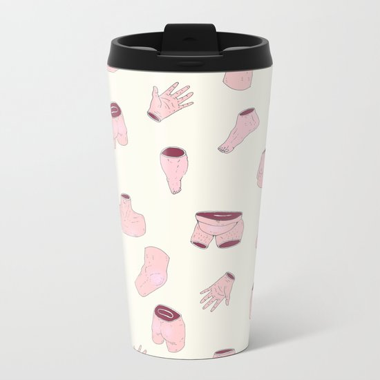 body parts Metal Travel Mug