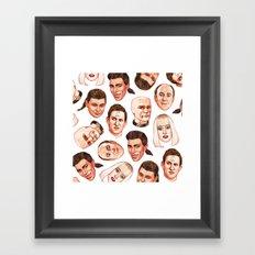 Faces of The Dwarf Framed Art Print