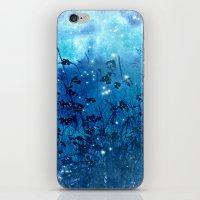 fireflies iPhone & iPod Skins featuring Fireflies by Deborah Lehman