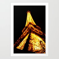 eiffel tower Art Prints featuring Eiffel Tower by Fimbis