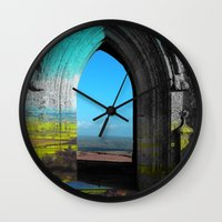 portal Wall Clocks featuring Portal by Tobias Bowman