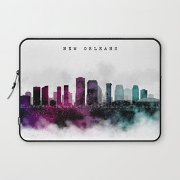 New Orleans Watercolor Skyline Laptop Sleeve