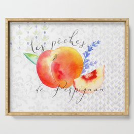 Les Pêches de Perpignan—French Country Peaches from Provence Serving Tray