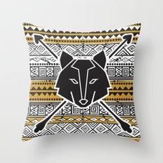 Lobo Tribal Throw Pillow