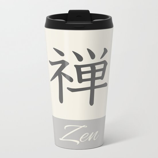 ZEN KANJI Metal Travel Mug