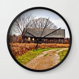 Wisconsin Old Barn 2 Wall Clock