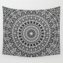 Grey Lace Ornament Mandala Wall Tapestry