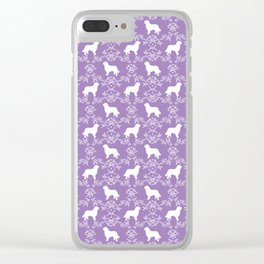 Bernese Mountain Dog florals dog pattern minimal cute gifts for dog lover silhouette Clear iPhone Case