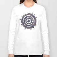 cycle Long Sleeve T-shirts featuring The Cycle by Hector Mansilla