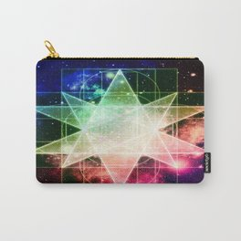 Rainbow Galaxy Sacred Geometry : Stellated Icoshadron Carry-All Pouch