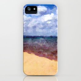 Beach Under Blue Skies iPhone Case
