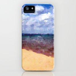 Beach Under Blue Skies iPhone Case