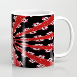 Red Black and White Abstract Coffee Mug