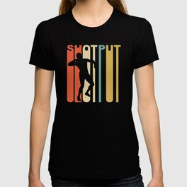 Vintage 1970's Style Shot Put Graphic T-shirt