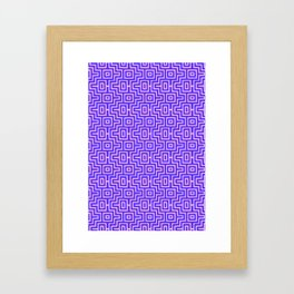 Plum Puzzle - Choctaw Pattern Framed Art Print