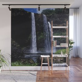 Peaceful Waimea Falls in Kauai, Hawaii Wall Mural