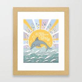 I am choosing peace Framed Art Print