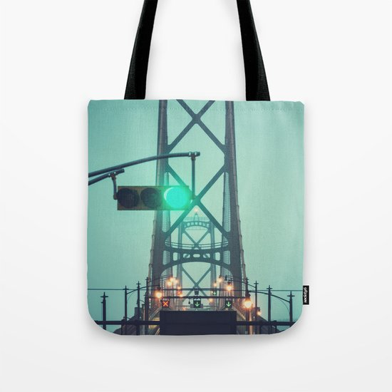 Green Light Bridge Tote Bag