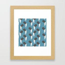 White britsh birds Framed Art Print