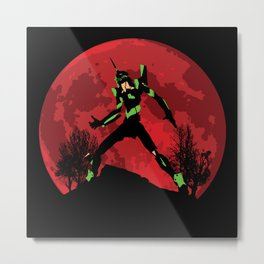 Neon Genesis Evangelion Unit 01 - Hill Top Metal Print