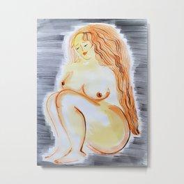 Nude Ginger Metal Print