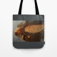 tina fey Tote Bags featuring Maple Fey  by The Art of Joshua Davis