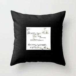 the way you move me - the raw lyrics Throw Pillow