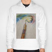 pen Hoodies featuring Fountain Pen by Michael Creese