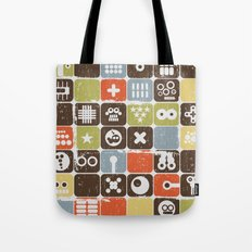Robot face. Tote Bag
