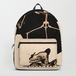 Vintage French zoological board - Bat skeleton Backpack
