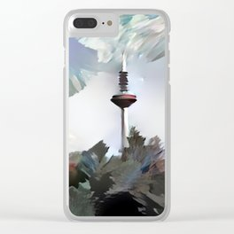 TV Tower of Frankfurt Clear iPhone Case