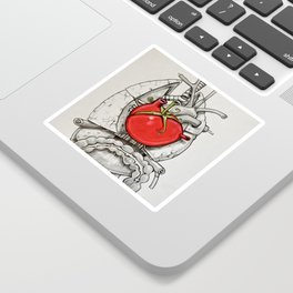 The Beat of The Tomato Sticker